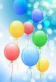 Balloons On Internet Background Original Vector Illustration
