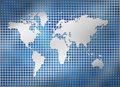 Metal grid world map