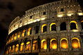 Illuminated Coliseum at night, Rome