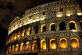 Illuminated Coliseum at night, Rome