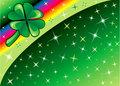 Shamrock Rainbow Background 2