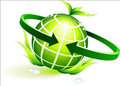 Green globe with leaves