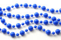Blue beads isolated