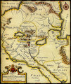 Map of ancient Armenia,Babylonia,Mesopotamia.