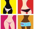 Vector - Woman in panties
