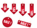 Sale stickers, price tag vector