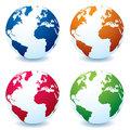 Realistic earth globe variation