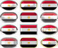 Twelve buttons of the Flag of Egypt