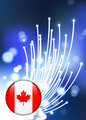 Internet Background with Canada Internet Button