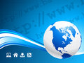 Business Globe on blue background