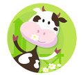 Happy cow character  - farm animal
