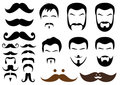 Moustache and beard styles, vector