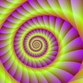 Spiral in Pink and Yellow