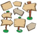 Wooden boards collection
