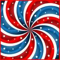 American flag stars and swirly stripes