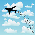 Airplane Vacation Travel Vector