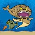 Big fish eats small