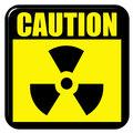 3D Caution Radioactive Sign