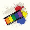 Grunge rainbow frame