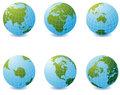 Earth globe icons
