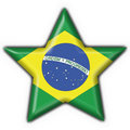 Brazilian button flag star shape