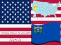 Nevada state illustration