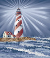 Candy Cane Lighthouse