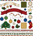 Folk Art Christmas Scrapbook Kit