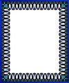 Blue swirl border