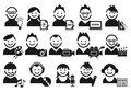 Creative people icons