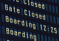 Airport information board.