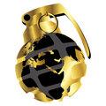 Golden hand grenade