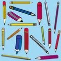 Set vector illustration of pencils
