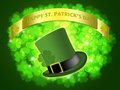 St Patricks Day Leprechaun Hat Banner Shamrock