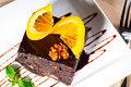 Chocolate and walnuts cake