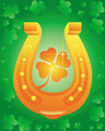 Golden Horseshoe with leaf clover