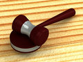 3d judge gavel isolated on white background