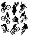 Bike stunt silhouettes