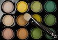 Eyeshadow set with cosmetic brush