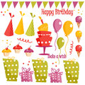 Birthday party graphic elements