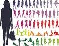 Silhouettes Women - Vector