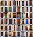 Front doors I, Barcelona, Spain