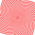 Red vortex illustration