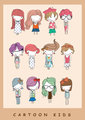 Illustration cute kids cartoon children