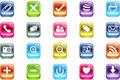 Vector 3d Quadrat Multimedia Bevel Icons