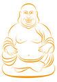 Lucky buddha, vector