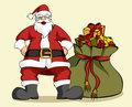 Christmas series: Santa Claus and gifts bag