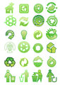Set of environmental icons