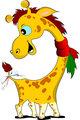 Little funny giraffe. Vector illustration africa, animal, baby,