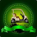 Golfer club emblem. Vector illustration